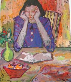 woman reading - Toine Corstjeans