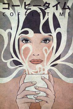 Coffee Time Art Print by Kuba Gornowicz