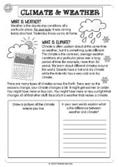 Weather And Climate Worksheets - Modern Social Studies Worksheets, Science Worksheets, Teaching Social Studies, Science Lessons, Worksheets For Kids, Science Experiments, Weather Vs Climate, What Is Climate, Weather Unit