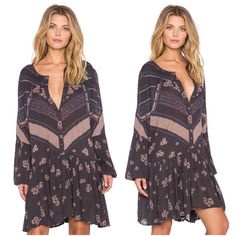 Free People From Your Heart Printed Dress