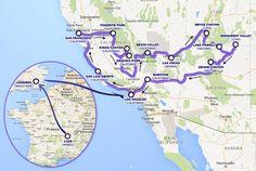 Itinéraire de notre voyage aux etats-unis. Toutes les étapes de séjours aux USA au jour le jour. Venez découvrir toutes les photos sur www.voyage-aux-etats-unis.com/itineraire/