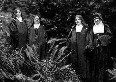 Thérèse's sisters Céline, Marie, Pauline & Léonie, respectively Soeur Geneviève de la Sainte-Face, Soeur Marie du Sacré-Coeur, Mère Agnès de Jésus & Soeur Françoise-Thérèse de la Visitation