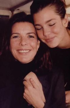 lovely photo of Princess Caroline with daughter Charlotte