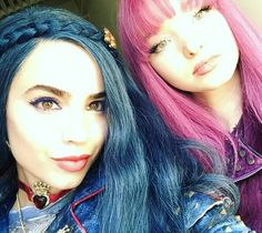 Dove Cameron as Mal Sofia Carson as Evie in d2