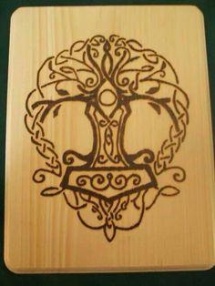 thor hammer tattoo henna - Google Search