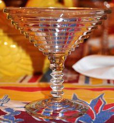 Depression Glass to serve margaritas