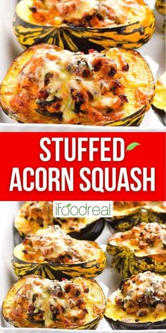 Nothing screams fall cooking like this Turkey Stuffed Acorn Squash. This recipe is made with ground turkey meat, spinach and the perfect blend of spices. Plus I share how to cut an acorn squash without losing a finger!