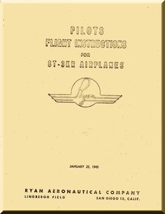 Ryan ST-3KR Airplane Flight Instruction Manual - Aircraft Reports - Manuals Aircraft Helicopter Engines Propellers Blueprints Publications