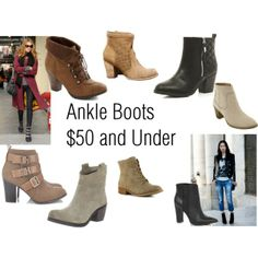 """Ankle Boots Under $50"" by Big Curls and Pearls blog"