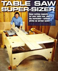 Knock-Down Outfeed Table Plans - Table Saw Tips, Jigs and Fixtures | WoodArchivist.com