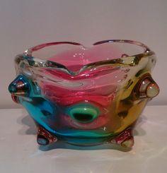 Mid century Murano knobbly bowl