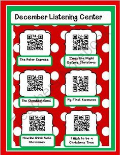FREE Instant Listening Center - December from Smart Teaching on TeachersNotebook.com (2 pages) - Just add i-pods or i-pads and your students are ready to hear five stories. Instructions are included. Laminate this page, and put it in your listening center. Watch how fast your children are engaged!