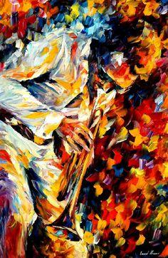 Miles Davis gold trumpet by Leonid Afremov by Leonidafremov on DeviantArt