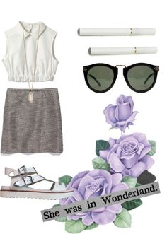 """wonderland"" by californiafields ❤ liked on Polyvore"