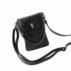 Skull Leather Crossbody Bag