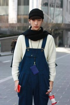 Seoul Fashion Week F/W 2013. Really want a pair of dungarees.