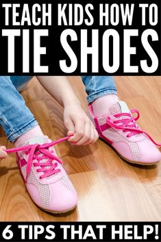 6 simple tips and lots of fun fine motor activities to help you figure out how to teach a child how to tie their shoes the fun way! Parenting Teens, Parenting Hacks, Motor Activities, Activities For Kids, Teaching Kids, Kids Learning, Learn To Tie Shoes, Kids Clothes Australia, Kids Ties