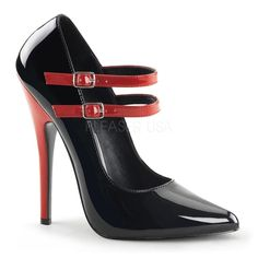 Devious   DOMINA-442 Pump   DOM442/BR   Free Shipping over $79   SexyShoes.com   SEXYSHOES.COM Red Stiletto Heels, Red Stilettos, High Heel Pumps, Black Heels, Pumps Heels, Mary Jane Heels, Plateau Pumps, Frauen In High Heels, Mode Shoes