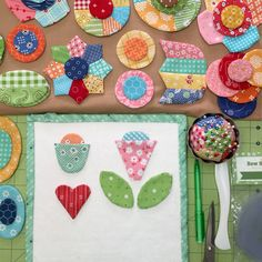 Bee In My Bonnet: Sew Simple Shapes - Another Scrappy Happy Flower Tutorial!!! #iloverileyblake #loriholt #sewsimpleshapes #applique