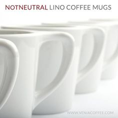 When we first put our eyes on these coffee mugs, it was love at first sight. Once we touched them, we knew we would never put them down. Simple and elegant, these cups are designed by notNeutral and manufactured using exceptional porcelain.    Built with a thick bottom for heat retention and thick upper rim for great mouth feel, they hold up to the daily use of cafes and will last a lifetime in your home. These are a must have for every true coffee drinker! $12