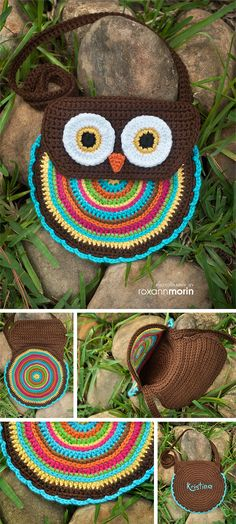 Sarung botol air minion crochet beg botol pinterest crochet crochet pattern crochet owl purse pattern no 005 instant digital download ccuart Image collections
