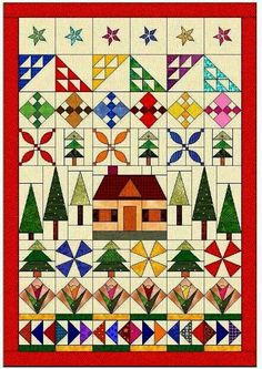 Quilt Pattern row by row - style.: