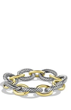 David Yurman 'Oval' Extra-Large Link Bracelet with Gold available at #Nordstrom