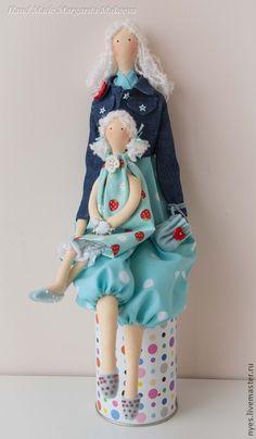 Куклы Тильды ручной работы. Ярмарка Мастеров - ручная работа Нежная парочка - мама и дочка. Handmade.