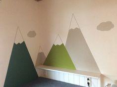 Berge an der Kinderzimmerwand - Gebirge - fjällen - Mountains - diy - Wandverschönerung - Kinderzimmer - children's room