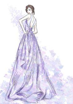 #concept #fashion #illustration #skech #dress #model #art #digital #beauty #woman