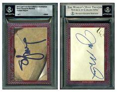 2012 Leaf Cut Signature NNO Executive Collection (2 AU w/ Steve Young & Joe Montana) (#1/1)