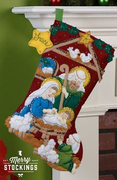 Nativity Bucilla Christmas Stocking Kit
