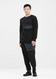 Yohji Yamamoto Suspender Trouser in Black #totokaelo #mens #yohjiyamamoto