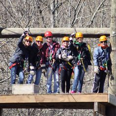 Congratulations to Kevin and Shyla Burress who spent the first day as husband and wife on our Pigeon River Canopy Tours ziplines with their family!!