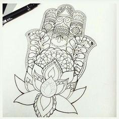 #hamsa #zentangles #flower #black&white