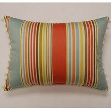 Deck Chair Ball Fringe Sea Glass Cotton Pillow (Set of 2)-image