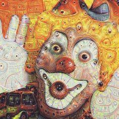 #neuralnetwork #deepdream #deepdreamfilterapp #art #google #abstract #deepdreamfiter #Inceptionism #clown