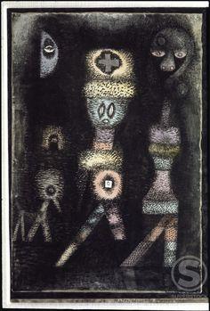 Ghosts 1923  Paul Klee (1879-1940/Swiss) Oil Rosengart Collection, Lucern Galerie, Switzerland