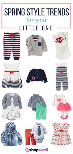 Your one-stop shopping list for the latest in baby fashion trends for your little boy or girl.