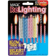 1 2 or 3 packs 10pc Magic ReLighting Party Cake Candles Cannot Blow Out Birthday
