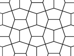 If you measure the angles in the above tessellation you will find that each hexagon has angles 90°, 144°, 90°, 108° and 108°.