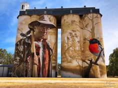 The Australian Silo Art Trail collection stretches from Western Australia, through South Australia, Victoria and New York Graffiti, Street Art Graffiti, Street Art News, Street Artists, Graffiti Artists, Banksy, Transformers, Art Public, Great Works Of Art