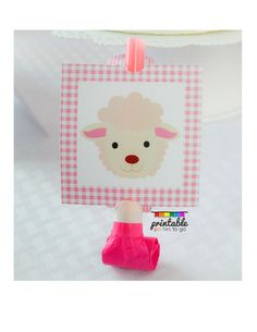 INSTANT Download Pink Gingham Sheep Baby Lamb Party Printable Blowout Covers - Please Read Description Thoroughly - Printable Parties to Go