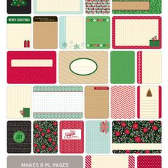 Christmas Themed Cards - Project Life www.BeckyHiggins.com/shop