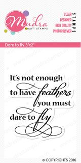 'Dare to fly' Such a wonderful sentiment to add to your Multimedia project.