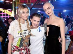 Paris Jackson, Millie Bobby Brown & Cara Delevingne from The Big Picture: Today's Hot Photos  Scene stealers! The stars strike a pose while attending the MTV Movie And TV Awards in Los Angeles.