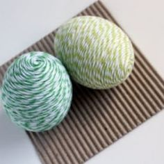 Twine wrapped Easter eggs are a delightful addition to spring decor!  @Looksi Square