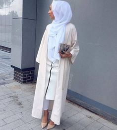 Off White Premium Open Abaya Size 53 and 55