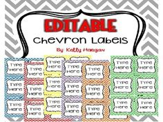 This download is perfect for the teacher who is wanting to get ORGANIZED! In 36 EDITABLE Chevron Labels/Tags, you will get 6 pages of editable labels/tags: 6 Blue labels6 Red labels6 Yellow labels6 Purple labels6 Green labels6 Orange labels ...to make a total of 36 labels/tags.You will need to have POWERPOINT to add your own text to the labels / tags. (You can start editing your labels/tags on page 5 of this document.) You will open the file after downloading.