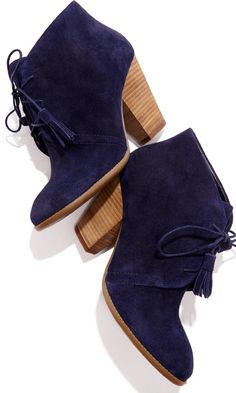 ec91c845828fb Soft suede lace up bootie with tassel detail on laces, rounded toe and a  stacked heel. Omg, I had a pair just like the black ones and they are  completely ...